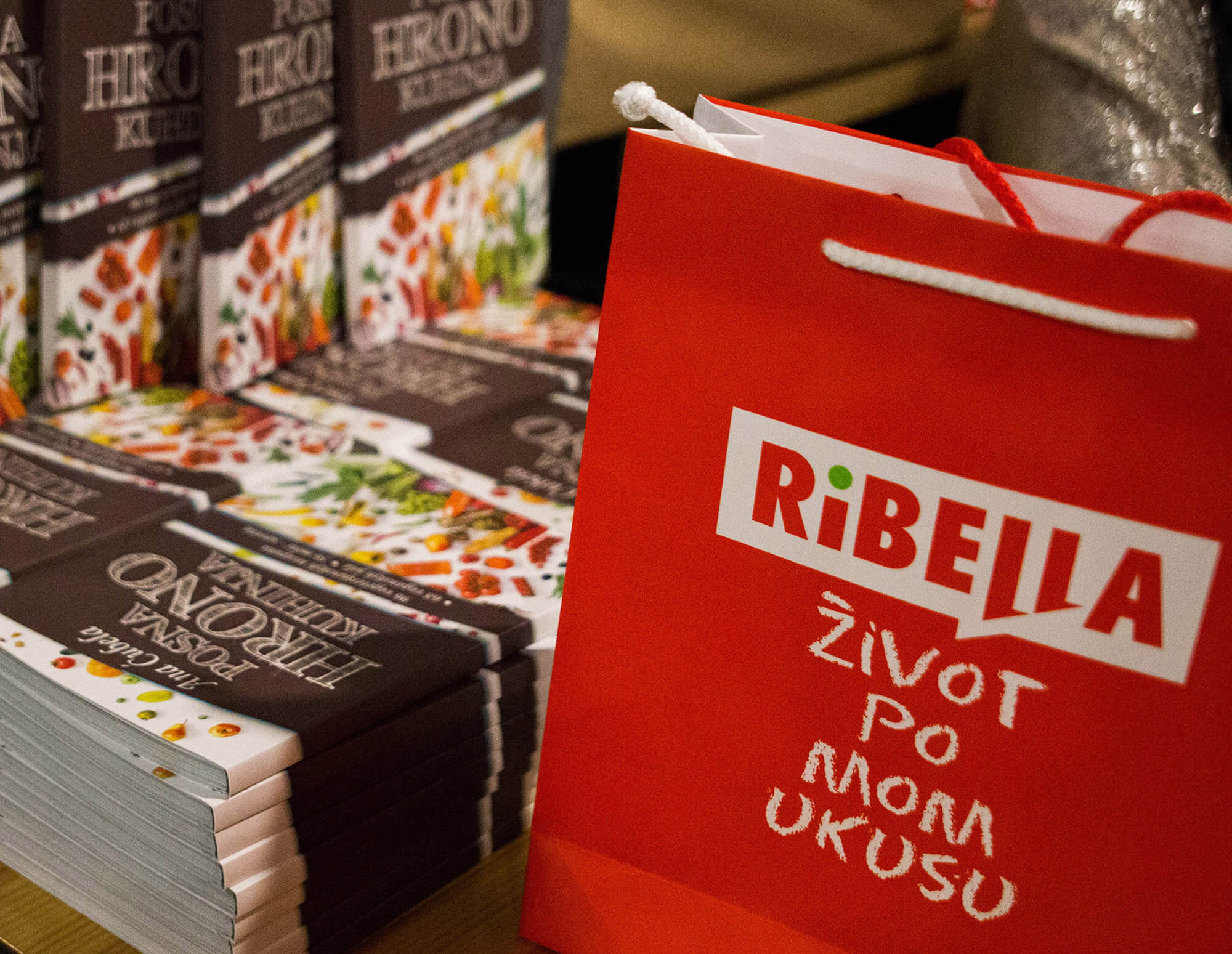 Ribella Hummus at Ana Ćubela's new cookbook promotion